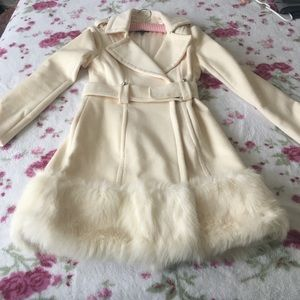 Rare Bebe wool coat w/fur trim - make me an offer